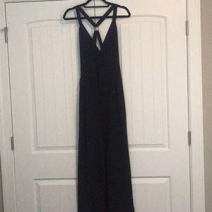 NBD Dresses - Navy floor length dress. High leg slit. Size M